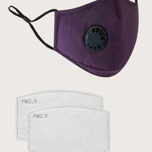 💥💥NEW 1 'Maroon Purple' Mask + 2pc Filter Washab